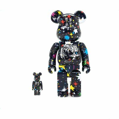 $399.99 • Buy BBC STARFIELD BEARBRICK SET 400% 100% Rare Sold Out Pharrell Limited Billionaire