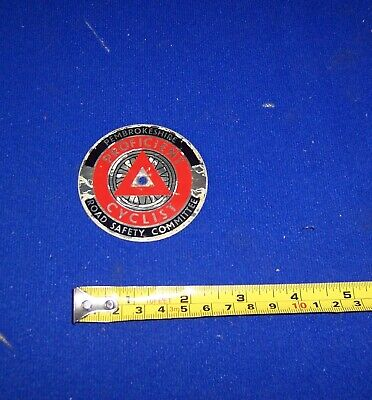 £15 • Buy Vintage Pembrokeshire Road Safety Committee Proficient Cyclist  Badge Aluminium