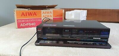 AIWA AD-F640 Vintage 3 Head Cassette Tape Deck - Mint  NEED SERVICING ! BOXED  • 199£