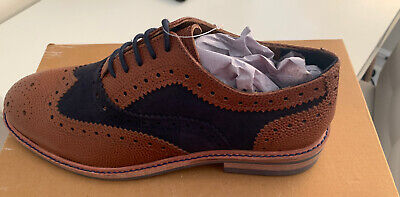 Leather Brogues - Two Tone - Tan & Navy - Brand New • 14£