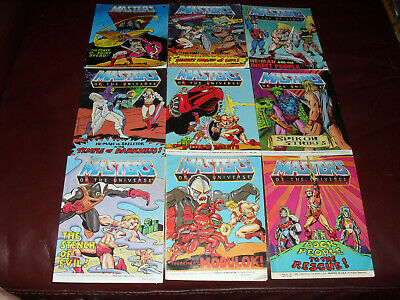 $35 • Buy Masters Of The Universe MOTU He-Man Mini Comic Lot Of 9 Acceptable To Good #6