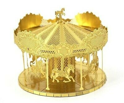 £13.99 • Buy 3d Metal Model Kit Merry Go Round Carousel Theme Park Complicated Puzzle  (gold)