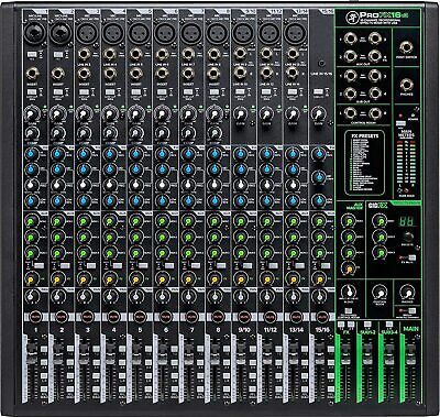 $499.99 • Buy Mackie ProFX16v3 16-Channel Mixer With Built-in Effects And USB