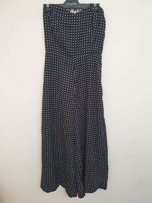 AU70 • Buy French Connection Women's BNWT Black Polka Dot Strapless Jumpsuit Size 10