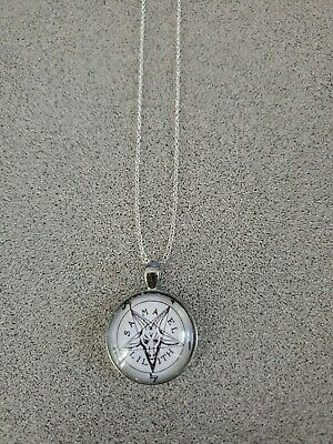 $ CDN7.86 • Buy Pentagram Samael Lilith Halloween Unisex Silver Pendant Necklace Adult/kid New