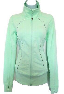 $ CDN65 • Buy Free Shipping Lululemon In Stride Jacket Full Zip Sz 4 Mint Green EUC
