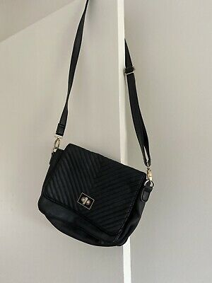 AU5 • Buy Sportsgirl Black Shoulder Bag Gold Clasp Strap Small Handbag