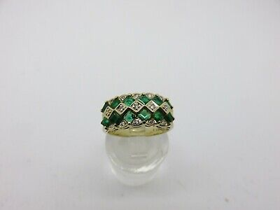 AU495 • Buy Valued $2650. Layby. 14ct Natural Emerald And Diamond Ring. Yellow Gold