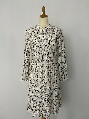 AU40 • Buy MNG (Mango) Dress Off While With Black Spots Size M BNWT