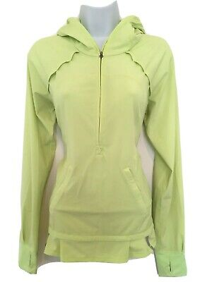 $ CDN52 • Buy Free Shipping Lululemon Half Zip Jacket Pullover Green Sz 6 Reflective Running
