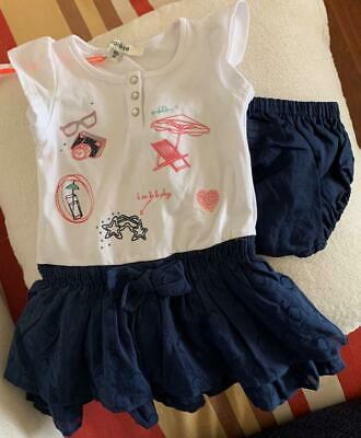 MARESE - French Girls 18m (1-2yrs) Tiered/Layer Dress W/matching Bloomers - NWT • 10.45£