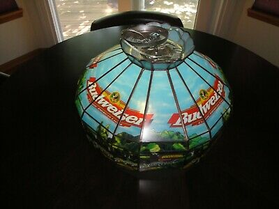 $ CDN194.41 • Buy Vintage Budweiser Clydesdale Game Room Hanging Light - Stained Glass Appearance