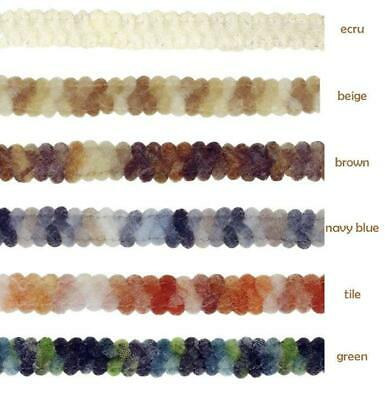 9mm Trim Braid Gimp - Upholstery Soft Furnishing Edging Lampshade Craft • 1.69£