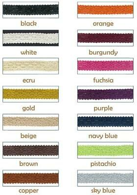 10mm Braid Trim Gimp - Soft Furnishing Upholstery Edging Lampshade Craft Blinds • 1.49£