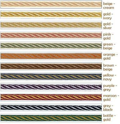11mm Trim Braid Gimp - Upholstery Soft Furnishing Edging Lampshade Craft • 1.49£
