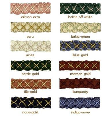12mm Trim Gimp Braid Vienna - Edging Lampshade Blinds Soft Furnishing Clothing • 1.69£