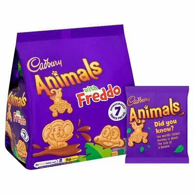 £14.95 • Buy 35 Cadbury Animals With Freddo Miniature Biscuits 19.9g Packs - FREE POSTAGE
