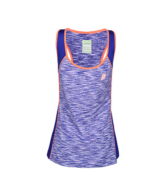 Prince Girls Space Dye Racer Vest Top In Coral  • 13.99£