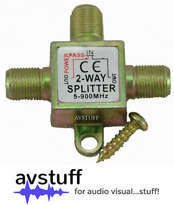 AU4.75 • Buy 2 Way F Type Splitter - Split Tv Antenna Coax Coaxial Cable To 2 Outlets