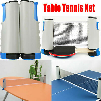 AU28.36 • Buy Table Tennis Kit Retractable Net Rack Portable Sports Fun Family Games Outdoor