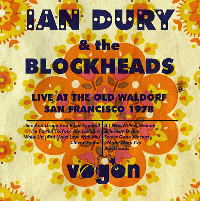 IAN DURY AND THE BLOCKHEADS Live At The Old Waldorf CD FREE POSTAGE • 5£