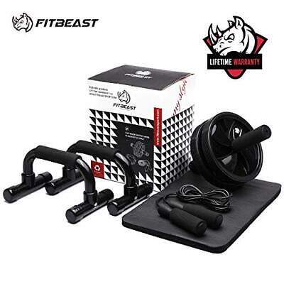 3-in-1 Ab Abdominal Exercise Roller Set With Push-Up Bar, Skipping Rope Black  • 39.57£
