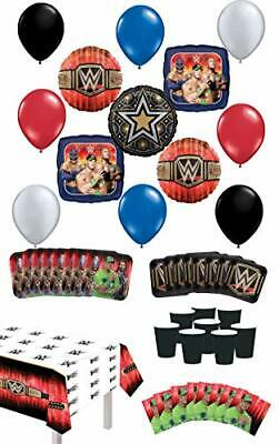 WWE Birthday Party Supplies 8 Guest Table Decor And Balloon Bouquet Decorations • 30.42£