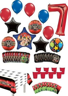 WWE 7th Birthday Party Supplies 8 Guest Table Decor And Balloon Bouquet Decor... • 32.54£