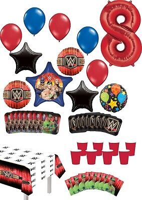 WWE 8th Birthday Party Supplies 8 Guest Table Decor And Balloon Bouquet Decor... • 32.54£