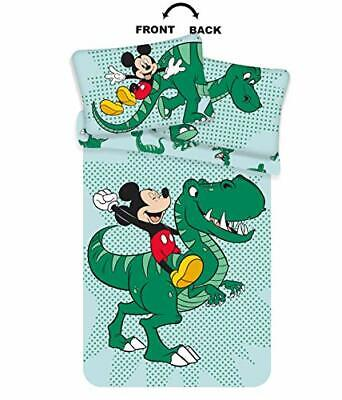 £29.29 • Buy Disney Dinosaur Toddler Bedding Featuring Mickey Mouse – Cot...