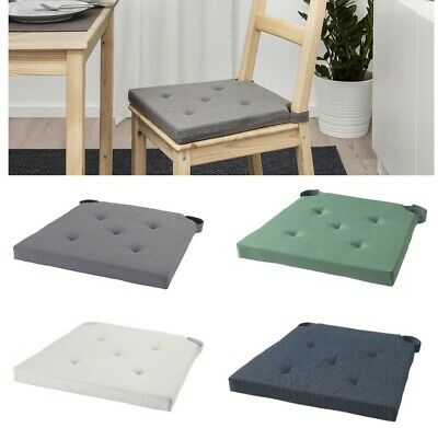AU22.95 • Buy IKEA Chair Seat Pad Cushion W Ties Soft Form Comfort Support Washable Dining