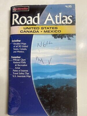 £3.62 • Buy Northern Star Road Atlas - United States Canada Mexico Very Good Condition