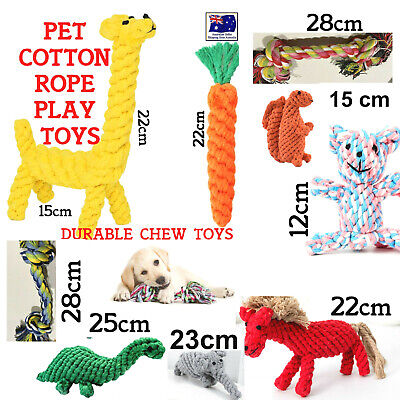 AU11.95 • Buy Pet Dog Puppy Cat Cotton Braided Rope Toys Durable Tug Toy Healthy Teeth Chew AU