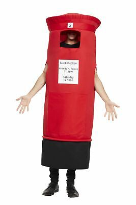 $34.92 • Buy Adult Post Box Costume - Postman Novelty Funny Fancy Dress One Size Royal Mail