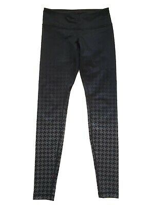 $ CDN62 • Buy Free Shipping Lululemon Wunder Under Leggings Sz 6 Black Grey Houndstooth