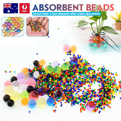 AU17.99 • Buy 1-50000 Orbeez Crystal Soil Water Balls Jelly Gel Beads For Vase Home Wedding