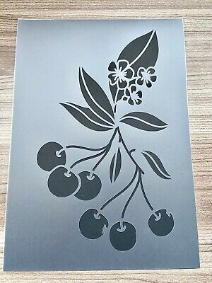 Cherry Stencil ,Branch Stencil , Tree Shabby Chic Wall Furniture Flower Decor A4 • 4.99£