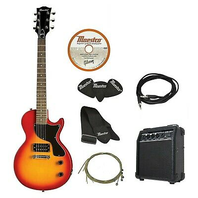 AU259 • Buy Maestro By Gibson Electric Guitar Pack Single Cutaway Cherry + Amplifier + DVD