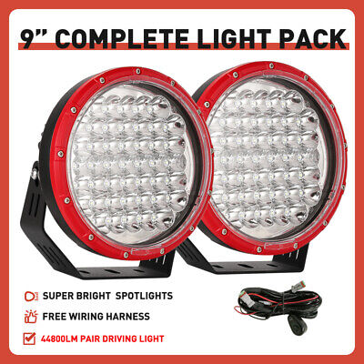 AU105.95 • Buy New 9inch RED Slim LED Driving Spot Lights OSRAM Pair Headlights Offroad Truck