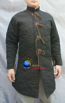 Medieval Knight Armor Outfit Clothing Gambeson Sca/Hema/Larp Dress Reenactment • 59.42£