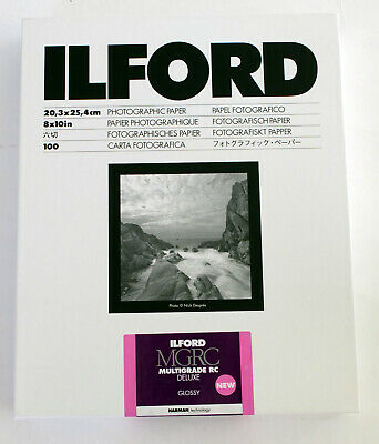 Ilford NEW Multigrade RC Deluxe 10x8   Black & White Paper Glossy 100 Sheets • 56.99£