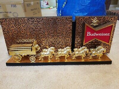 $ CDN63.52 • Buy VINTAGE Budweiser Clydesdale Plastic Sign Bar Top 17.5  X 7