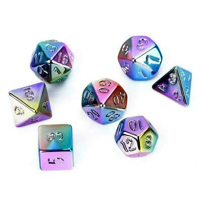 AU12.08 • Buy For Dungeons And Dragons Fun Toys Metal Dice 7-Color Dice Set DND Rainbow Q6T1