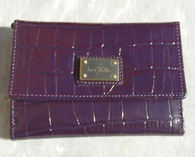 Jane Shilton Purple 100% Leather Mock Croc Purse - Brand New Without Tags • 14.50£