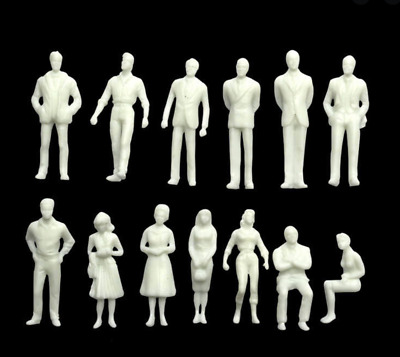 1:100 Scale Architecture Model White Figures / People - Unpainted Model Making • 3.50£