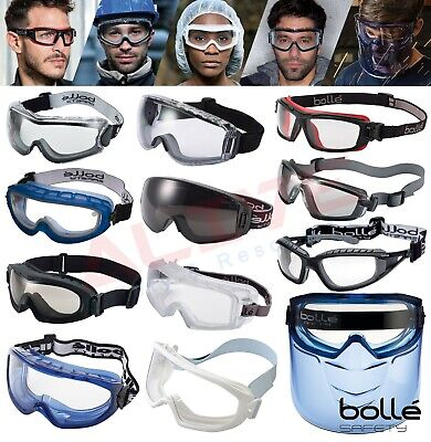 Bolle Safety Goggles Glasses Various Types Eye Protection Fit Over Spectacles • 15.99£