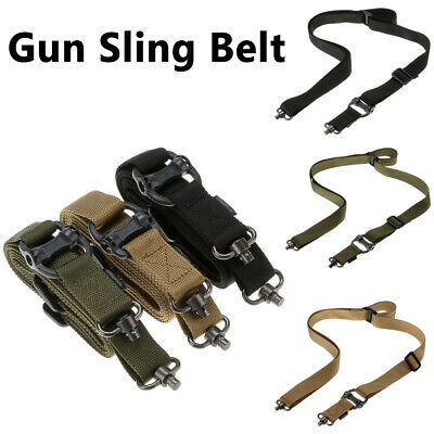 $ CDN18.74 • Buy Hunting Tactical Two Point Rifle Gun Sling Belt Strap QD Swivel 1.25  Adjustable