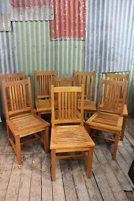 AU795 • Buy A Good Solid Set Of Eight Teak Chairs *FREE DELIVERY *T&C's Apply