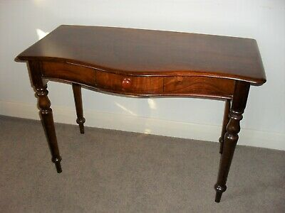 AU490 • Buy Antique Colonial Australian Cedar Hall Table /Desk With Draw Serpentine Front