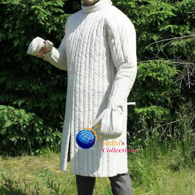 Medieval Knight Armor Gambeson Outfit Clothing Sca/Hema/Larp Dress Reenactment • 57.55£